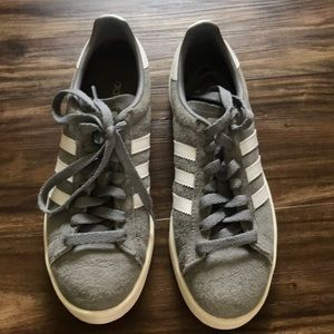 Adidas Campus Shoes Gray M6/W7.5